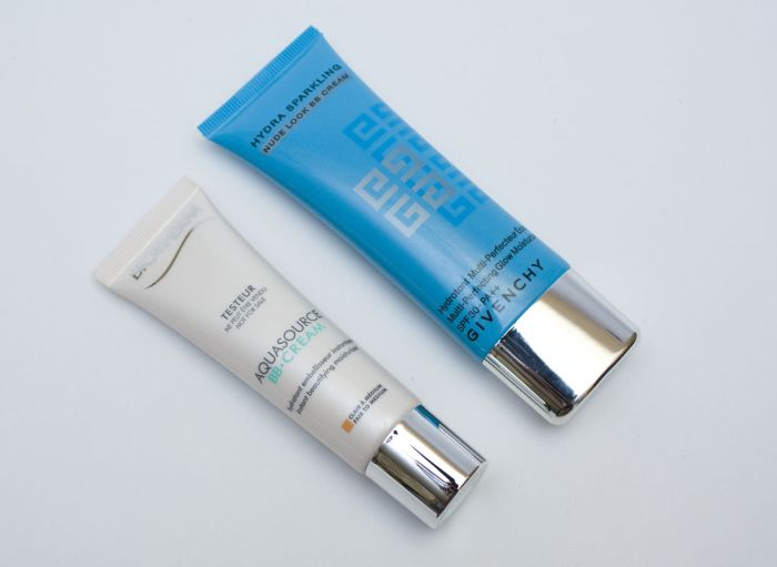 BB-news this summer: Givenchy Hydra Sparkling Nude Look BB Cream, and Biotherm Aquasource BB Cream
