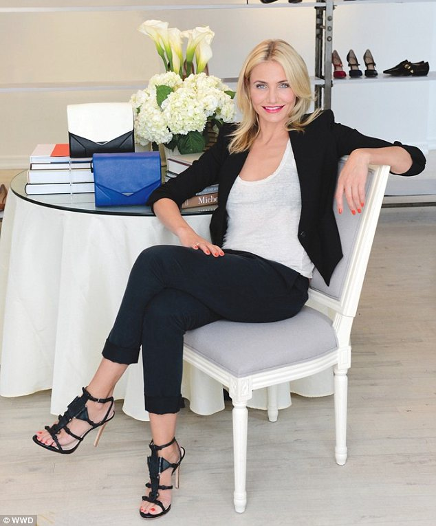 Actress Cameron Diaz was engaged in design bags