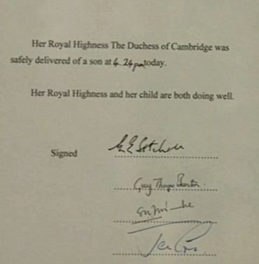 Kate Middleton has given birth to a son!
